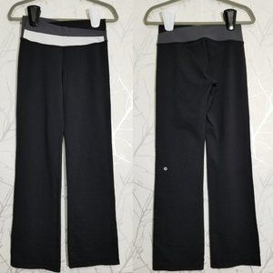 LULULEMON Black Gray Luon Mid Rise Astro Pants